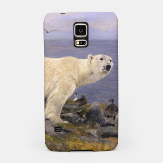 Thumbnail image of Fashion items of Richard Friese Painting, Polar bear and Eider Ducks on the Coast Samsung Case, Live Heroes
