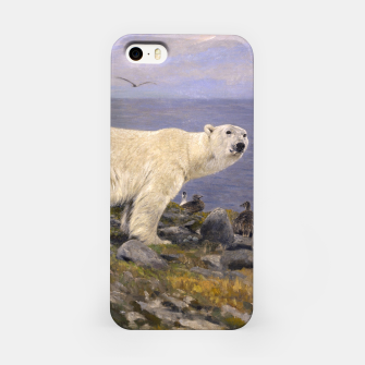 Thumbnail image of Fashion items of Richard Friese Painting, Polar bear and Eider Ducks on the Coast iPhone Case, Live Heroes