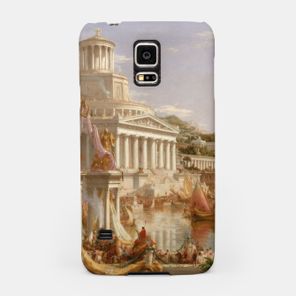 Thumbnail image of  Thomas Cole painting, The Consummation The Course of the Empire Samsung Case, Live Heroes