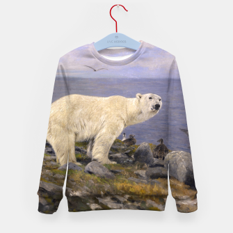 Thumbnail image of Fashion items of Richard Friese Painting, Polar bear and Eider Ducks on the Coast Kid's sweater, Live Heroes