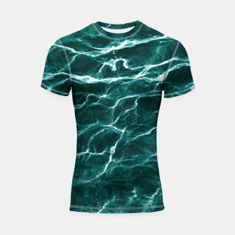 Thumbnail image of Ocean Dream #3 #water #decor #art  Shortsleeve rashguard, Live Heroes