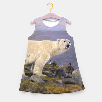 Thumbnail image of Fashion items of Richard Friese Painting, Polar bear and Eider Ducks on the Coast Girl's summer dress, Live Heroes