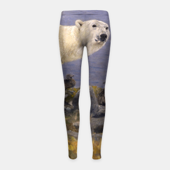 Thumbnail image of Fashion items of Richard Friese Painting, Polar bear and Eider Ducks on the Coast Girl's leggings, Live Heroes