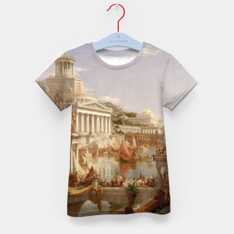 Thumbnail image of  Thomas Cole painting, The Consummation The Course of the Empire Kid's t-shirt, Live Heroes