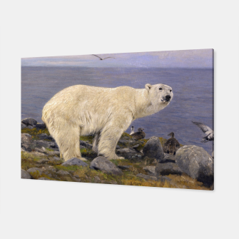 Thumbnail image of Fashion items of Richard Friese Painting, Polar bear and Eider Ducks on the Coast Canvas, Live Heroes