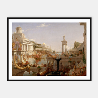 Thumbnail image of  Thomas Cole painting, The Consummation The Course of the Empire Framed poster, Live Heroes