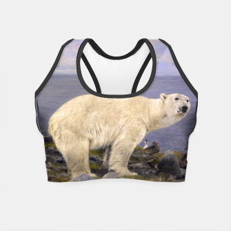 Thumbnail image of Fashion items of Richard Friese Painting, Polar bear and Eider Ducks on the Coast Crop Top, Live Heroes