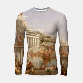 Thumbnail image of  Thomas Cole painting, The Consummation The Course of the Empire Longsleeve rashguard , Live Heroes