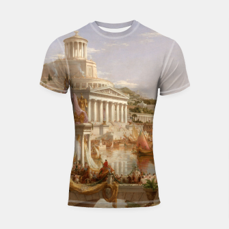 Thumbnail image of  Thomas Cole painting, The Consummation The Course of the Empire Shortsleeve rashguard, Live Heroes