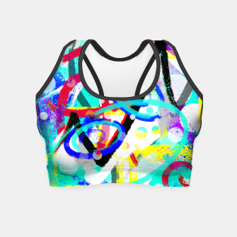 Thumbnail image of abstract mountains Crop Top, Live Heroes