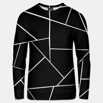 Miniaturka Black White Geometric Glam #3 #geo #decor #art Unisex sweatshirt, Live Heroes