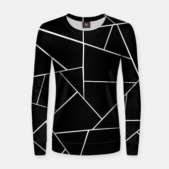 Thumbnail image of Black White Geometric Glam #3 #geo #decor #art Frauen sweatshirt, Live Heroes