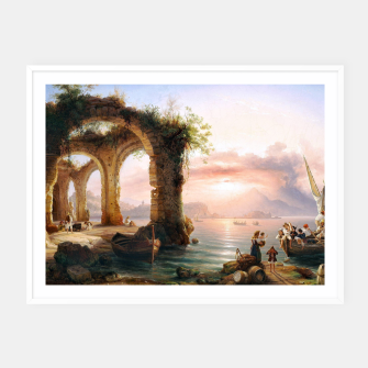 Thumbnail image of Fashion items of Eduard Agricola - The Bay of Naples Framed poster, Live Heroes