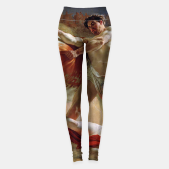 Thumbnail image of Fashion art made of Painting of Evgraf Sorokin, Ian Usmovets stopping the angry bull Leggings, Live Heroes