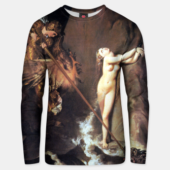 Fashion art of Jean August D. Ingres - Roger delivering Angelica Unisex sweater miniature