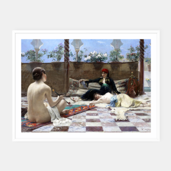 Thumbnail image of Ferdinand Max Bredt - Turkish woman's Framed poster, Live Heroes
