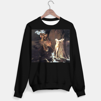 Fashion art of Jean August D. Ingres - Roger delivering Angelica Sweater regular miniature