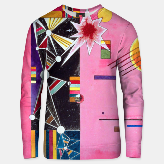 Fashion items of Wassily Kandinsky Painting - Pin and Red Unisex sweater miniature