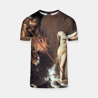 Fashion art of Jean August D. Ingres - Roger delivering Angelica T-shirt miniature