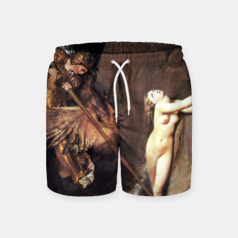Fashion art of Jean August D. Ingres - Roger delivering Angelica Swim Shorts miniature