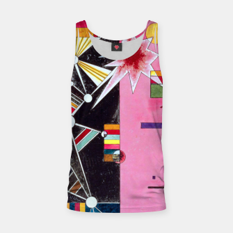 Thumbnail image of Fashion items of Wassily Kandinsky Painting - Pin and Red Tank Top, Live Heroes