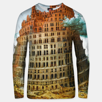 Fashion items of Peter Bruegel the Elder painting, The Tower of Babel Unisex sweater miniature