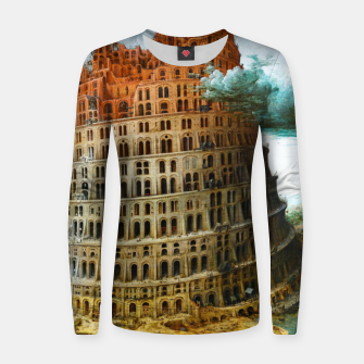 Thumbnail image of Fashion items of Peter Bruegel the Elder painting, The Tower of Babel Women sweater, Live Heroes