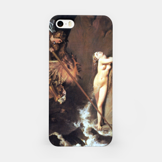 Fashion art of Jean August D. Ingres - Roger delivering Angelica iPhone Case miniature