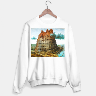Fashion items of Peter Bruegel the Elder painting, The Tower of Babel Sweater regular miniature