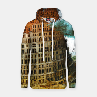 Fashion items of Peter Bruegel the Elder painting, The Tower of Babel Hoodie miniature