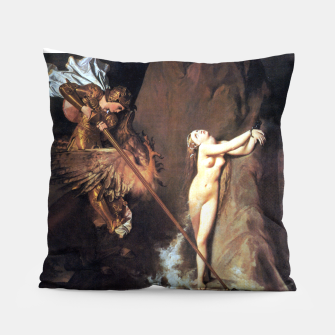 Fashion art of Jean August D. Ingres - Roger delivering Angelica Pillow miniature