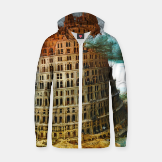 Thumbnail image of Fashion items of Peter Bruegel the Elder painting, The Tower of Babel Zip up hoodie, Live Heroes