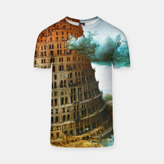 Fashion items of Peter Bruegel the Elder painting, The Tower of Babel T-shirt miniature