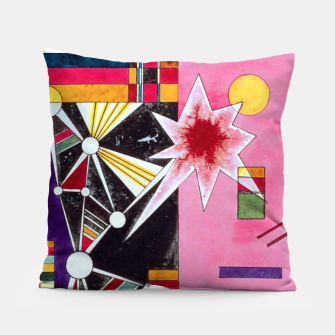 Fashion items of Wassily Kandinsky Painting - Pin and Red Pillow miniature