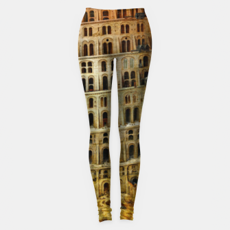 Fashion items of Peter Bruegel the Elder painting, The Tower of Babel Leggings miniature