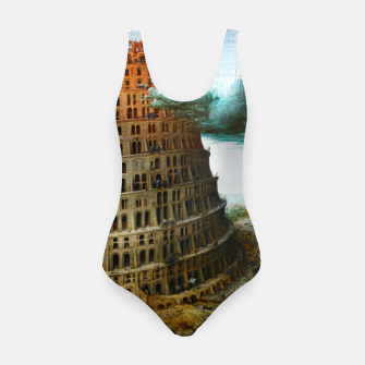 Fashion items of Peter Bruegel the Elder painting, The Tower of Babel Swimsuit miniature