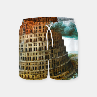 Fashion items of Peter Bruegel the Elder painting, The Tower of Babel Swim Shorts miniature