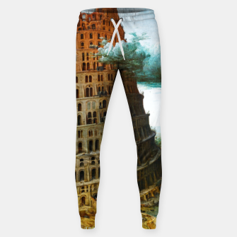 Fashion items of Peter Bruegel the Elder painting, The Tower of Babel Sweatpants miniature