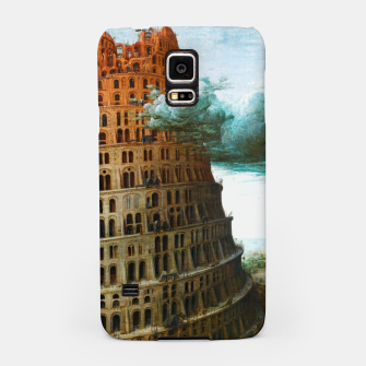 Fashion items of Peter Bruegel the Elder painting, The Tower of Babel Samsung Case miniature