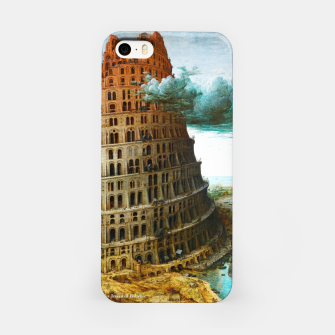 Fashion items of Peter Bruegel the Elder painting, The Tower of Babel iPhone Case miniature