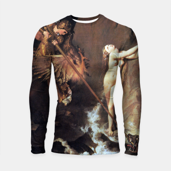 Fashion art of Jean August D. Ingres - Roger delivering Angelica Longsleeve rashguard  miniature