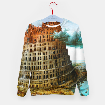 Thumbnail image of Fashion items of Peter Bruegel the Elder painting, The Tower of Babel Kid's sweater, Live Heroes