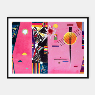 Thumbnail image of Fashion items of Wassily Kandinsky Painting - Pin and Red Framed poster, Live Heroes