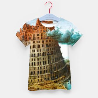 Fashion items of Peter Bruegel the Elder painting, The Tower of Babel Kid's t-shirt miniature