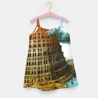 Fashion items of Peter Bruegel the Elder painting, The Tower of Babel Girl's dress miniature