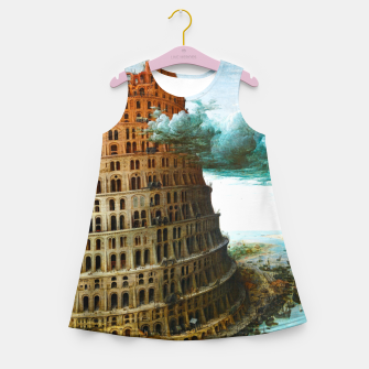 Fashion items of Peter Bruegel the Elder painting, The Tower of Babel Girl's summer dress miniature