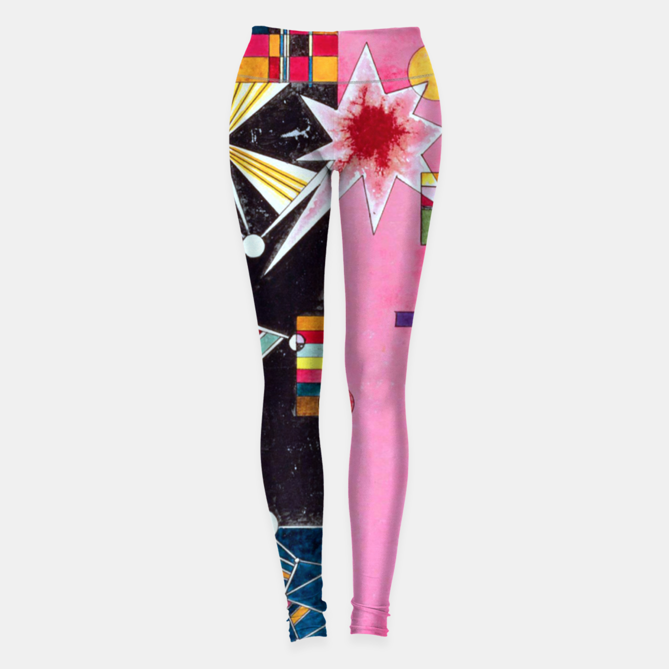 Image de Fashion items of Wassily Kandinsky Painting - Pin and Red Leggings - Live Heroes