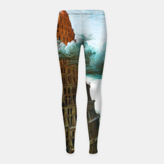 Thumbnail image of Fashion items of Peter Bruegel the Elder painting, The Tower of Babel Girl's leggings, Live Heroes