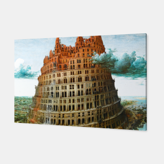 Fashion items of Peter Bruegel the Elder painting, The Tower of Babel Canvas miniature