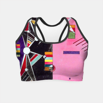 Thumbnail image of Fashion items of Wassily Kandinsky Painting - Pin and Red Crop Top, Live Heroes